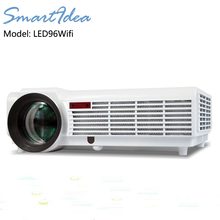 2016 New LED96wifi HD LED Projector 5500lumens 1280X800 HDMI USB VGA AV HD 3D DTV Projetor Proyector Beamer multi free gifts(China (Mainland))