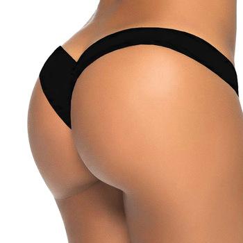 2017 new V shape sexy brazilian bikini bottom women swimwear thong swimsuit trunk tanga micro briefs Panties Underwear V87
