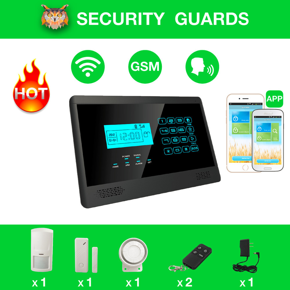 Smart home security system gsm alarm in sensors alarms for Smart home alarm system