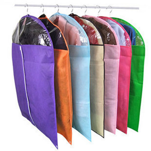 1Pcs new Dust cover Protector candy Dress Jacket Clothes Coat organizer vacuum Dustproof Hanger Garment Suit Cover Storage Bags(China (Mainland))