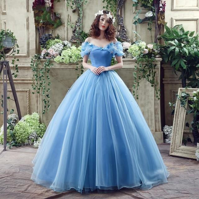 ... Movie Deluxe Blu Cenerentola Abito Da Sposa Costume Vestito Nuziale