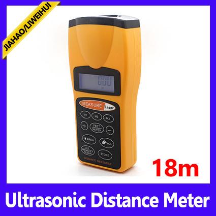 Free shipping Ultrasonic Distance Measurer,LCD Ultrasonic Laser Pointer ,Distance Measurer ,50pcs/lot