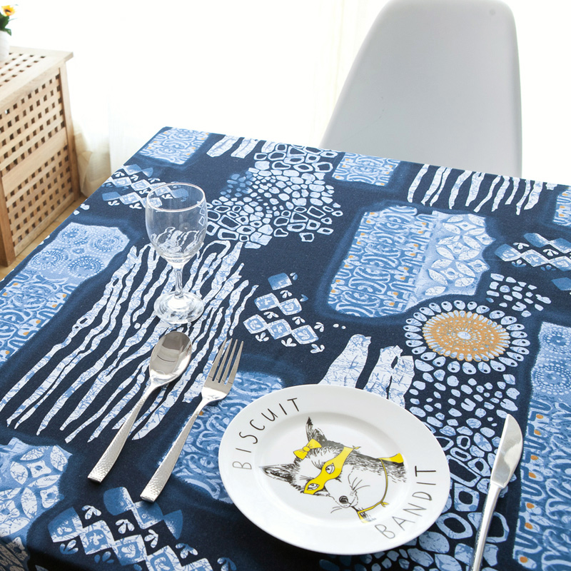New table cloth wind restoring ancient ways is cotton and linen tablecloth Chinese blue and white cloth art tea table cloth(China (Mainland))