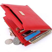 Neue Kleine Designer Schlanke Frauen Rote Brieftasche Dünnen Reißverschluss Damen Pu-leder Geldbörsen Weiblicher Geldbeutel Mini Kupplung Billigen Frauen brieftaschen(China (Mainland))