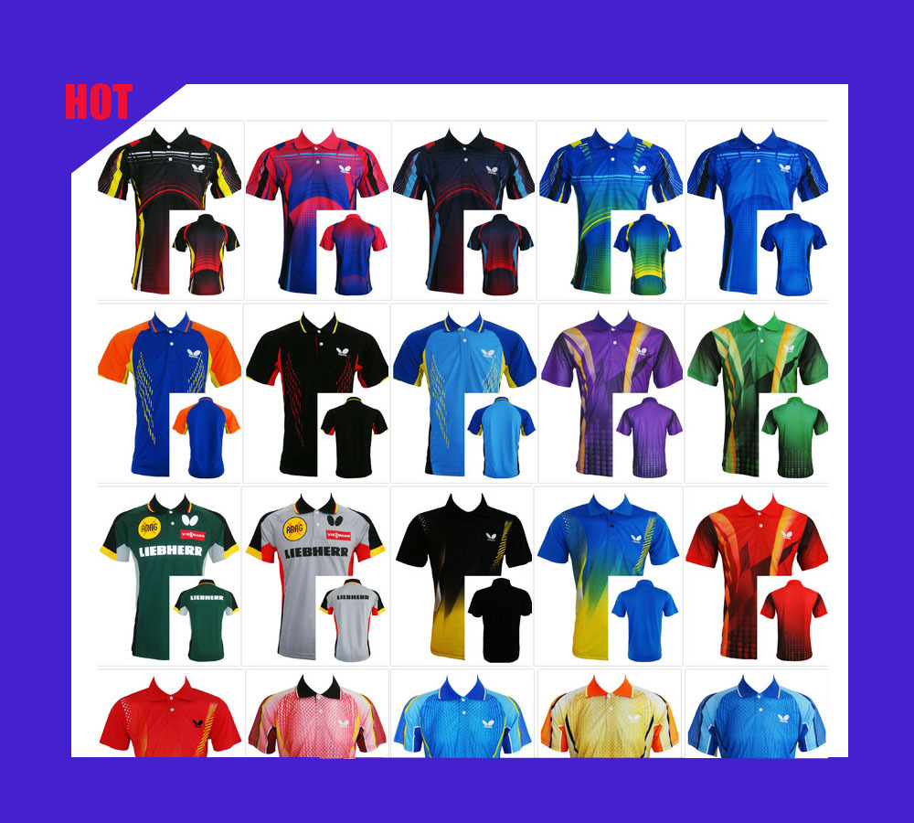 New Arrive 2015 Table Tennis Butterfly Shirt Clothing Sportswear Game Sportswear Short Sleeve(China (Mainland))