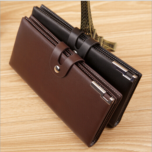 Fashion High Grade Brand Men Clutch Bag Designer Business PU Leather Long Paragraph Men Wallet Hot