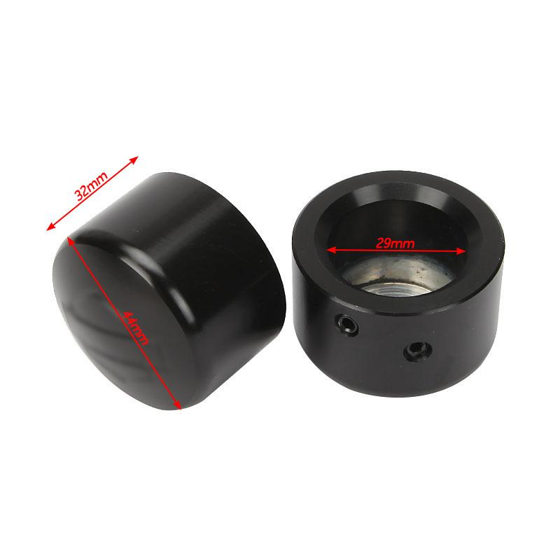 A Pair Die-Cast CNC Aluminum Front Axle Nut Covers Allen Wrench For Harley Softail Electra Street Road Glide DYNA V-Rod 2008(China (Mainland))