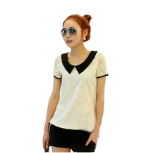 2014 NEW CHIC! plus size t shirt women clothing spring summer sexy tops tee clothes blouses t-shirts Trend Bow Wild Casual Tops