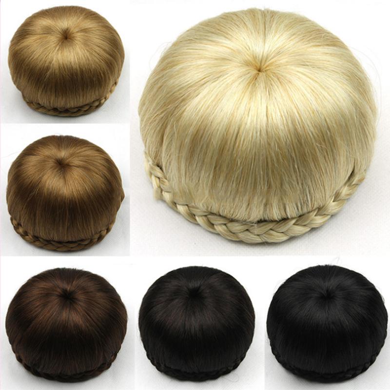 6 Colors Synthetic Hair Chignon Perruque Queen Braiding Hair Bun 11cm Short Brown/Wine Blond/black Aplique De Cabelo<br><br>Aliexpress