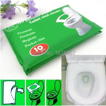 50pcs/lot Travel disposable toilet seat cover mat 100% waterproof toilet paper pad(China (Mainland))