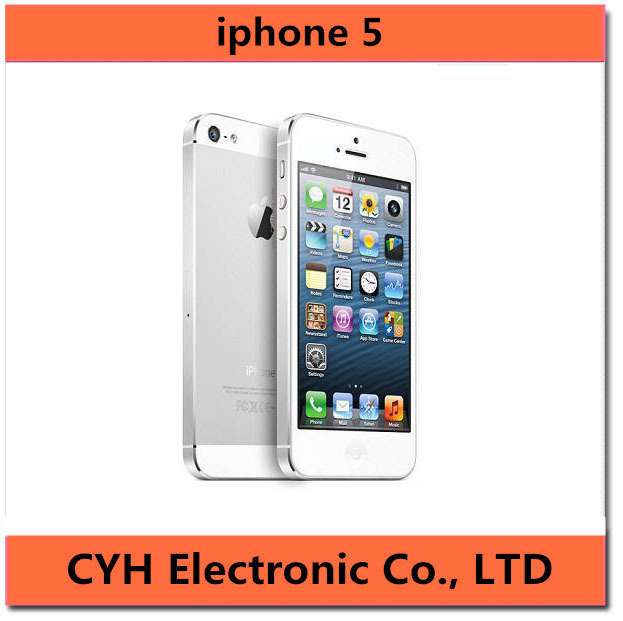 "Original Apple iPhone 5 16GB/32GB/64GB Dual-core 1GHz 3G WIFI GPS 8MP 1080P 4.0""IPS Unlocked Mobile Phone in Stock(China (Mainland))"