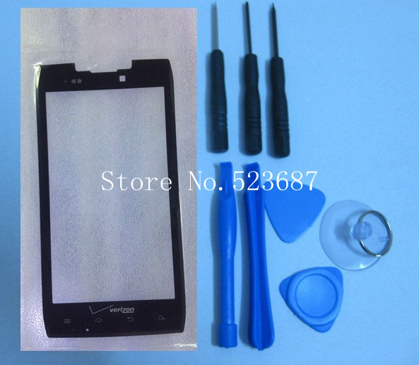 FreeShipping Black 100% Quality good Original Outer LCD Touch Screen Lens Top Glass FOR Motorola Droid Razr XT912 912+tools