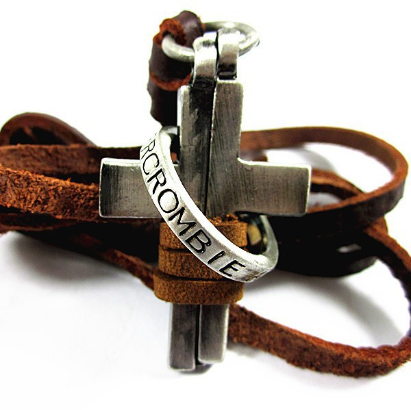 leather necklaces high quality men retro cross necklace fashion jewelry 100 genuine leather handmade pendant