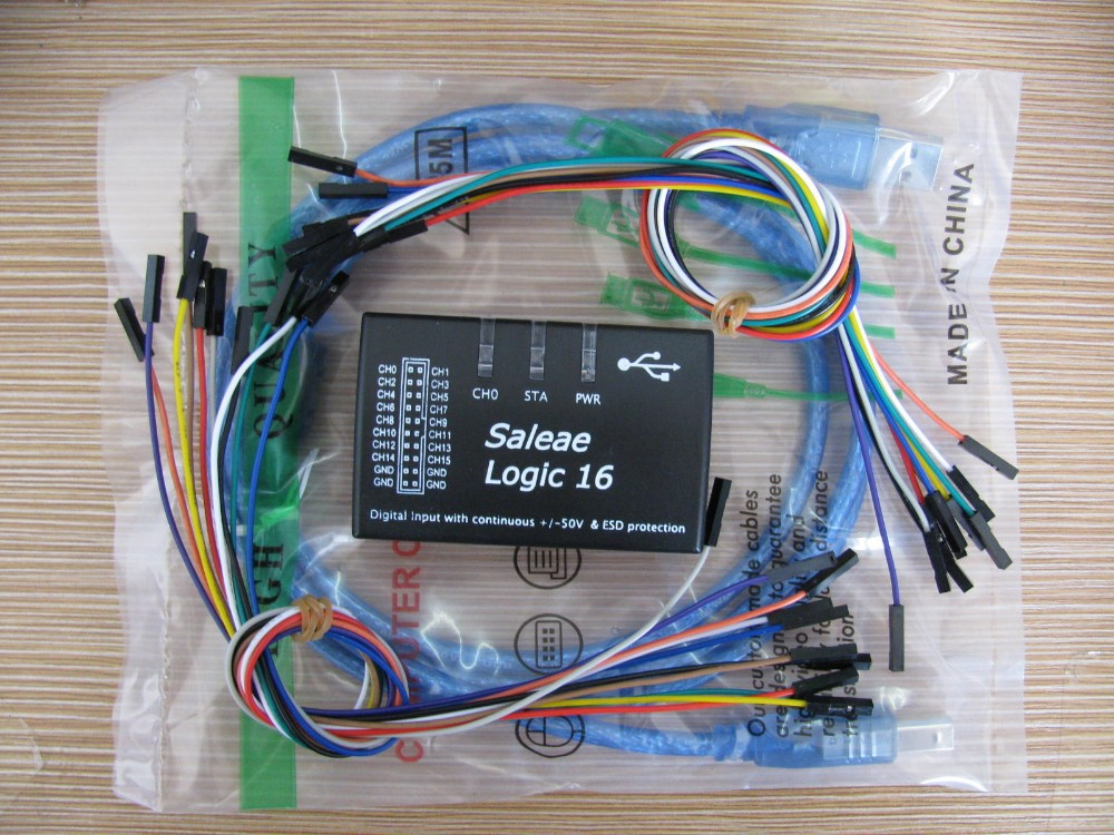 USB Logic Analyzer 100M max sample rate,16Channels,10B samples, saleae16,MCU,ARM,FPGA debug tool