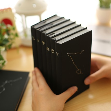 Constellation 48k note book / Leather Bound Business notebook Black office organizer - Jane Pan's store