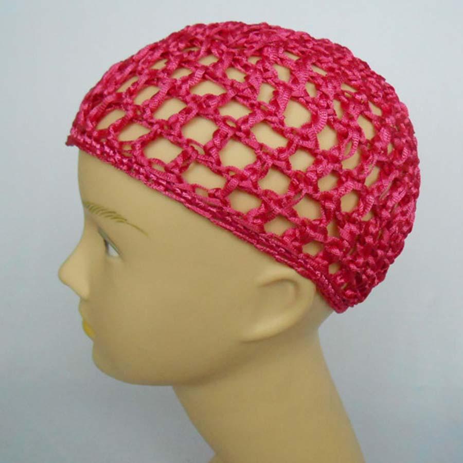10Pcs/lot Women Ladies Rayon Small Thick Hair Net Handmade Crochet Design Snood Hair Accessory Punk Rasta Gothic Mix Colors(China (Mainland))
