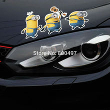 10 x Newest Minions Despicable Me Stuart Phil Kevin Stickers Car Decal for Toyota Chevrolet Volkswagen