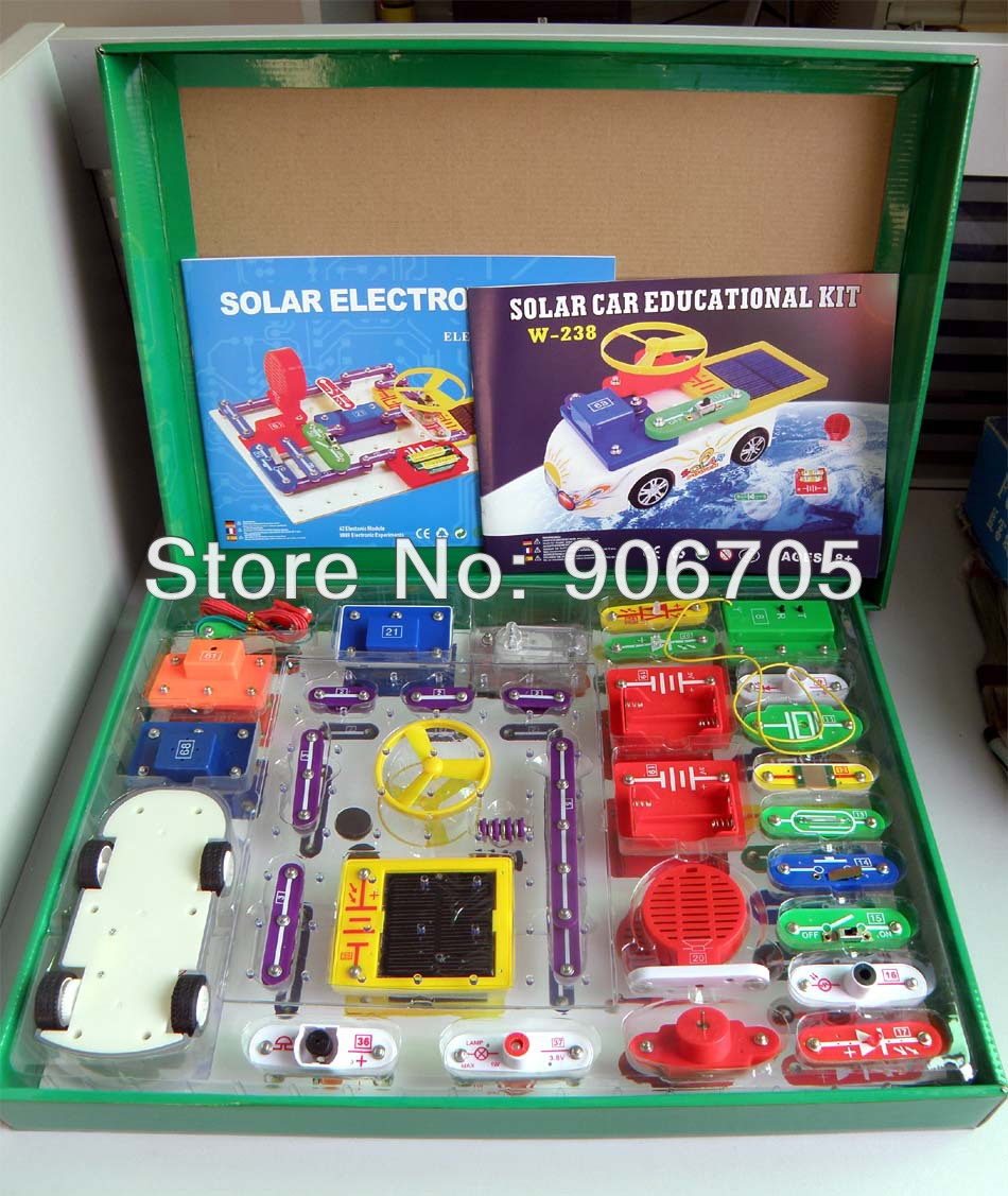 Free shipping Solar educational kit W-9889+Car electronic toys,electronic building blocks Learning & education toys with package(China (Mainland))