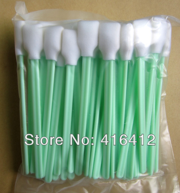 1000 pcs Foam Cleaning Swabs for Thermal Print heads Zebra Magicard Evolis Card Printer Cleaning Swabs Kits(China (Mainland))