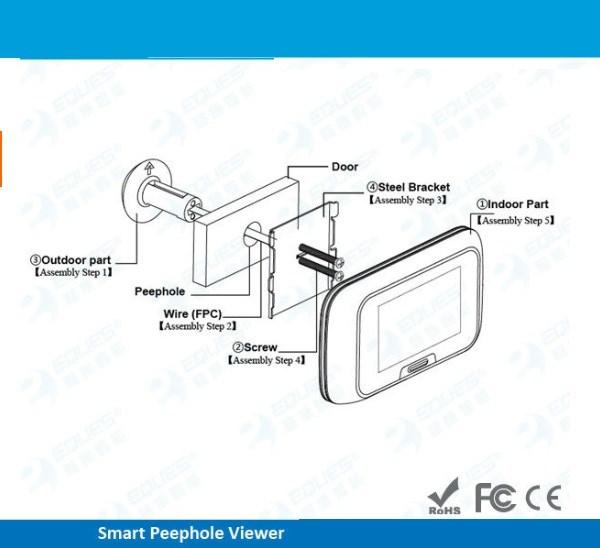 Salife New arrival  2.8″ LCD Digital Door Peephole Viewer Photo and Video Recording Wireless Door Camera
