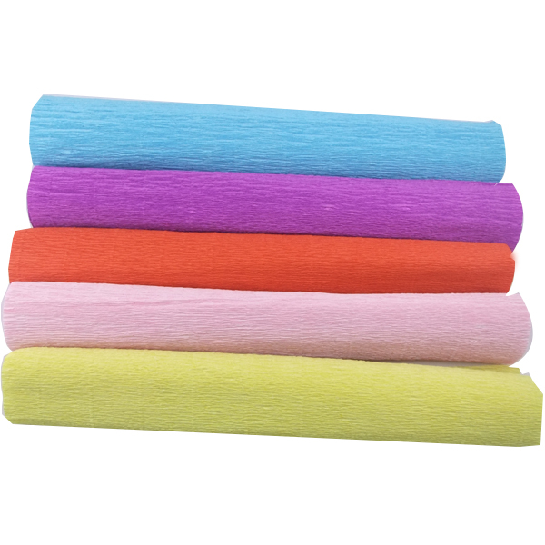 Party Decor 250*50CM Colored Crepe Tissue Paper Roll For Flowers Decorating Wrapping Paper Craft For Gift Wedding 5rolls/lot(China (Mainland))