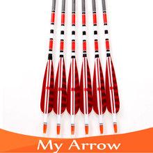31 Carbon Arrow 12pcs Turkey Feathers Carbon Shaft Compound Bow Arrow With Replaceable Arrow Head For