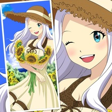 45X95CM FAIRY TAIL Mirajane Strauss sunflower Lolita cartoon art anime wall picture mural scroll cloth canvas painting poster