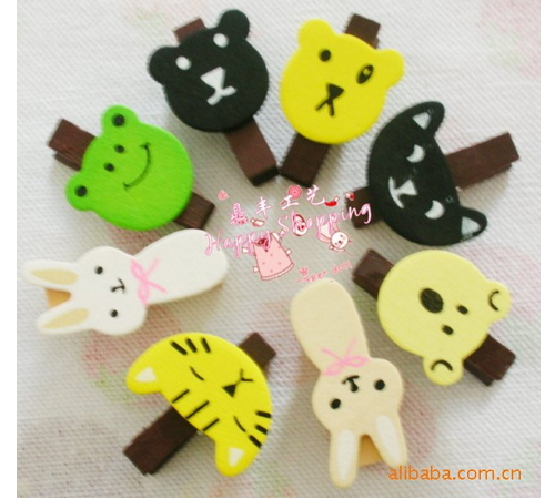 Hot Sale 10pcs/lot Lovely Cartoon Pattern Memo Clip Note Holders Colorful Convenient Picture Clips Animal Bookmark Clips(China (Mainland))