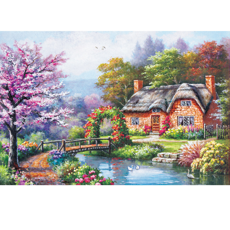 Adult 1000 pieces thick puzzle of paper StarLandscape painting home jigsae kids educational toy christmas gifts Free shipping(China (Mainland))
