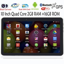 10 Inch Quad Core Dual Camera 2GB 16GB Tablets Pc FM BT GPS 2G 3G Phone Call Support WCDMA2100MHz 2G16G support Original Holster(China (Mainland))