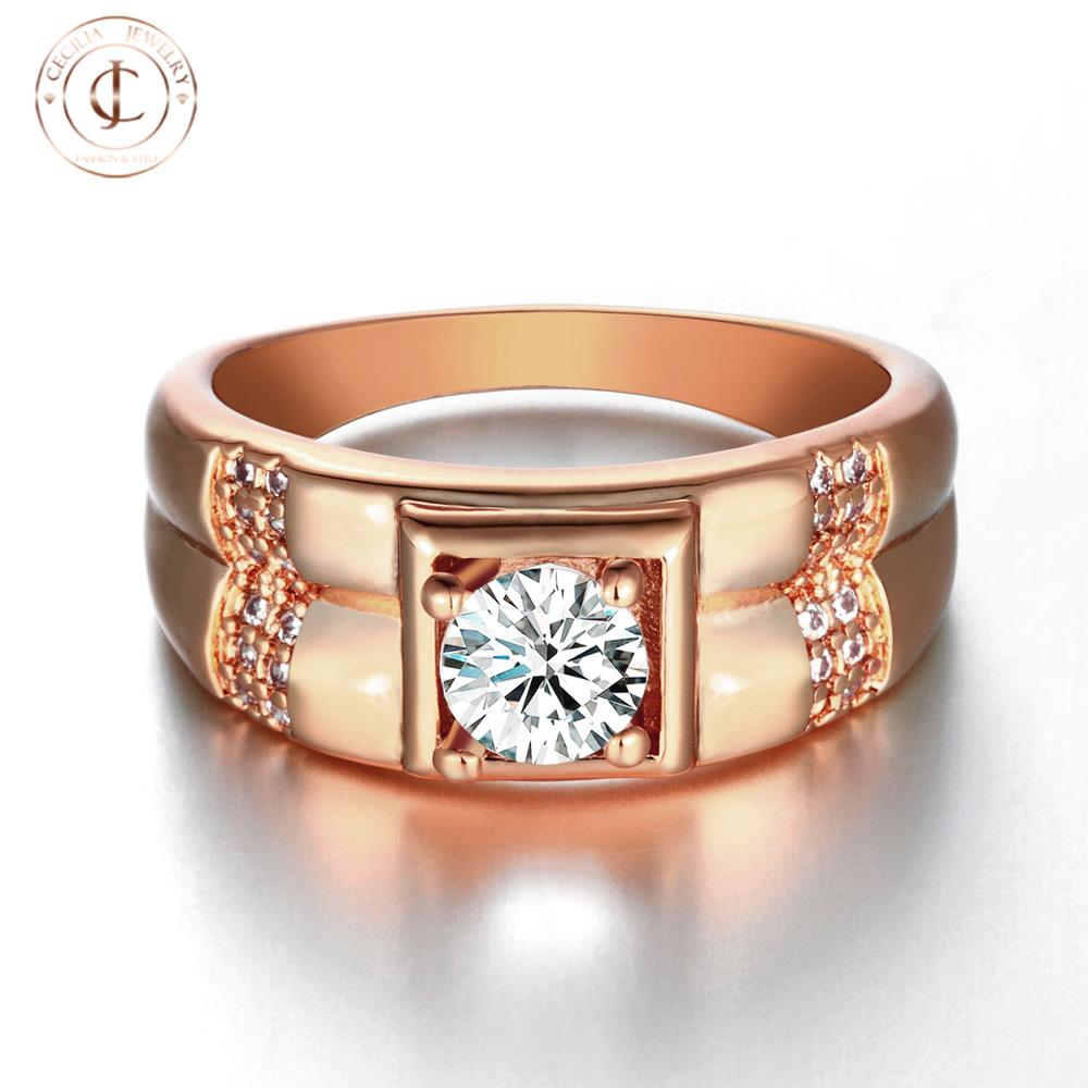 personalized s gold plating ring inlaied