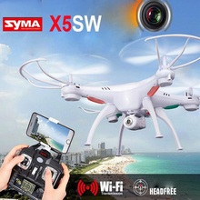Syma X5SW WIFI FPV 2.4Ghz 4CH 6-Axis Gyro RC Quadcopter Drone UFO With 2.0MP HD Camera White RTF Free Shipping