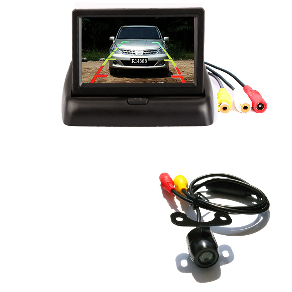 "4.3"" Color TFT LCD Folding Car Parking Assistance Monitors DC 12V Foldable Car Monitor With Rear View Camera(China (Mainland))"