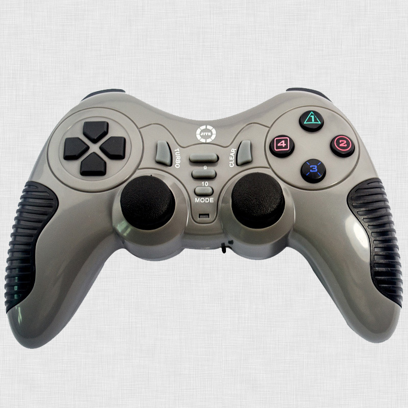 3-In-1 Wireless RF 2.4Ghz Double Shock Controller Gamepad Double Vibration Joystick Game Pad For PC Computer PS2 PS3 BCG11G-P24(China (Mainland))