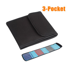3 Pocket Waterproof Camera Filter Lens UV CPL Shockproof Bag Case Storage Box Pouch Holder Wallet camera Accessories - Soyo Electronic Co.,Ltd store