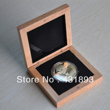 DHL/FEDEX Free shipping 100pcs/lot yellow color polishing wooden coin's box, No Logo+ Accept custom logo(China (Mainland))