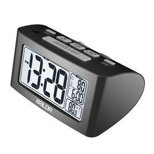 Baldr LCD Digital Nap Timer Temperature Time Display Watch Bedroom White Backlight Travel Table Thermometer Snooze Alarm Clock(China (Mainland))