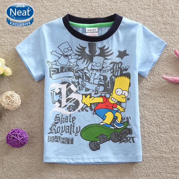 NEAT new free shipping 2014 baby&amp;kids boys wear childrens cartoon characters 100% cotton short sleeve T-shirt NOVA K1076<br><br>Aliexpress