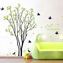 Hot ! My Lime Orange Tree wallpaper sofa sticker wall stickers tree large finished size 100*120cm stikers for wall decoration(China (Mainland))