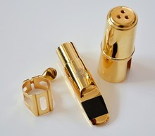 2015 New Free Shipping 009ALTO E flat Eb SAX Metal Mouthpiece # 7 for Saxophone Beginner GOLD plated Saxe(China (Mainland))