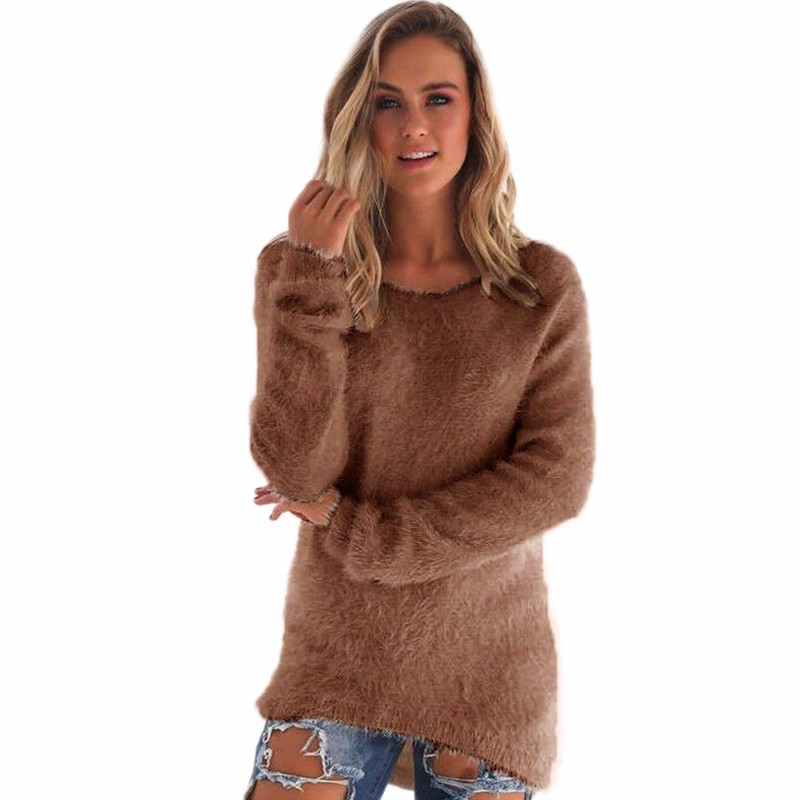 Women Pullover Sweater 2016 Autumn Winter Fashion Warm Pullovers High Quality Candy Colors Ladies Knitwear Femininos Clothes