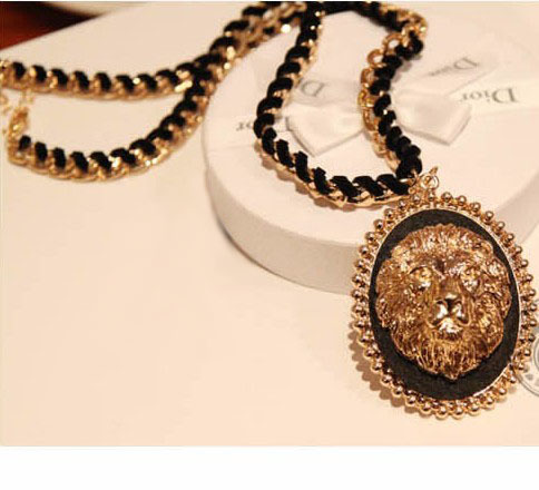 European style fashion Rihanna newest lion shape alloy women necklaces - IU jewelry store