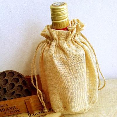 Flax Wine Bottle Bag 14cmx20cm  Good Quality wine Bottle Covers  Fashion Jute Linen Gift Pouches<br><br>Aliexpress