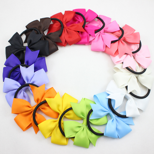 Baby Girl Elastic Hair Bands Solid Color Pony Tail Holder Hair Bow Headband Hairband for Newborn Infant Hair Accessories 15pcs(China (Mainland))