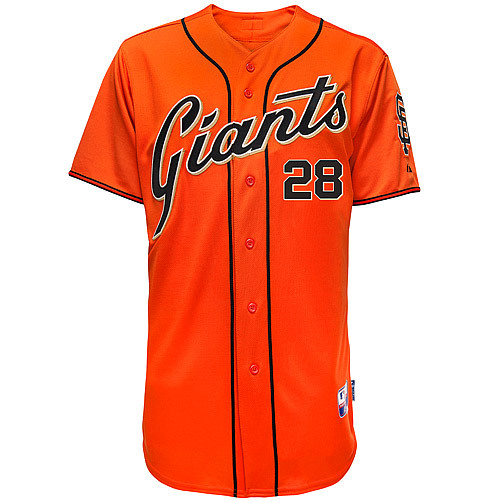2015 SF/San Francisco Giants #28 Buster Posey Jersey Stitched Orange Baseball Jerseys(China (Mainland))