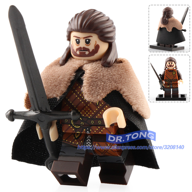 10PCS Game of Thrones House Stark Jory Cassel Army Mini Figure Building Blocks