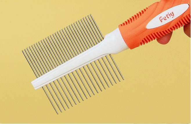 Free shipping Top quality Petiy Pet Stainless Steel Comb 22/45 Teeth Dog or Cat Comb best grooming tools for Dogs and Cats(China (Mainland))
