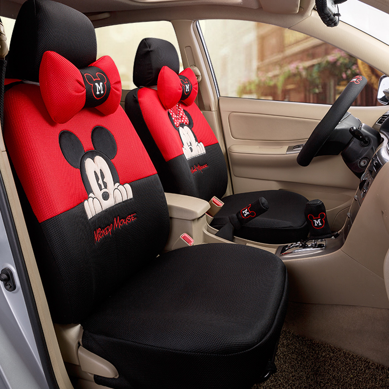 Aliexpress Buy Car Styling Red Black Beige Mickey