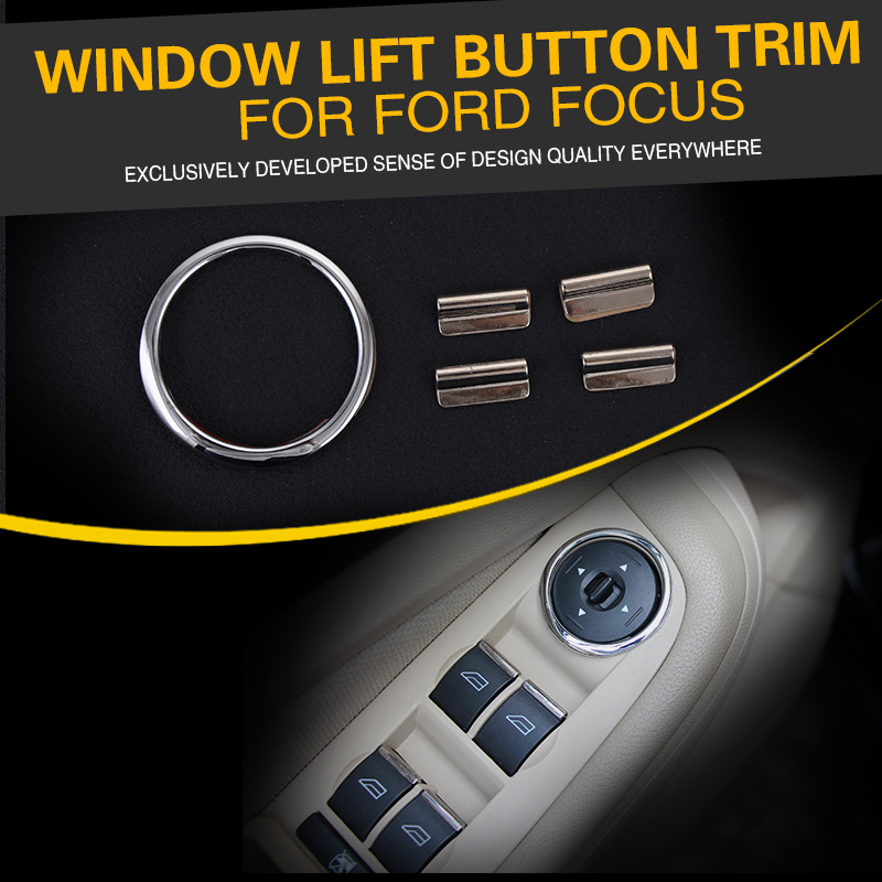 car window lifting button chrome sequin ring car accessories for ford focus 2. Cars Review. Best American Auto & Cars Review