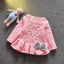 Spring Autumn Long Sleeved Infant Kids Baby Bebe Girls Dresses Princess Tutu Birthday Party Dress Vestidos MT637(China (Mainland))